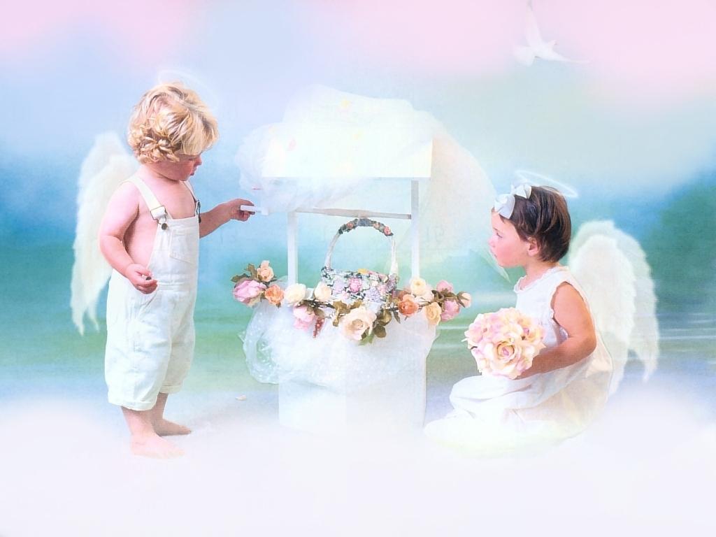 Обои на рабочий стол дети ангелочки 2